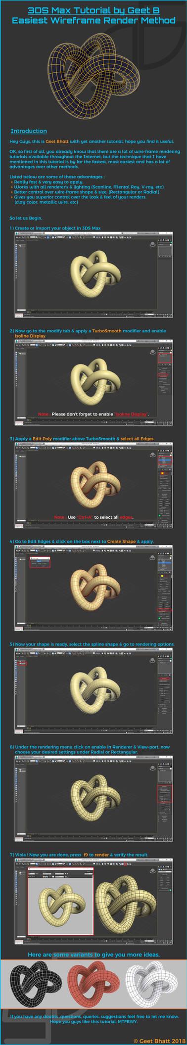 Best wireframe rendering in 3DS Max by GeetBhatt