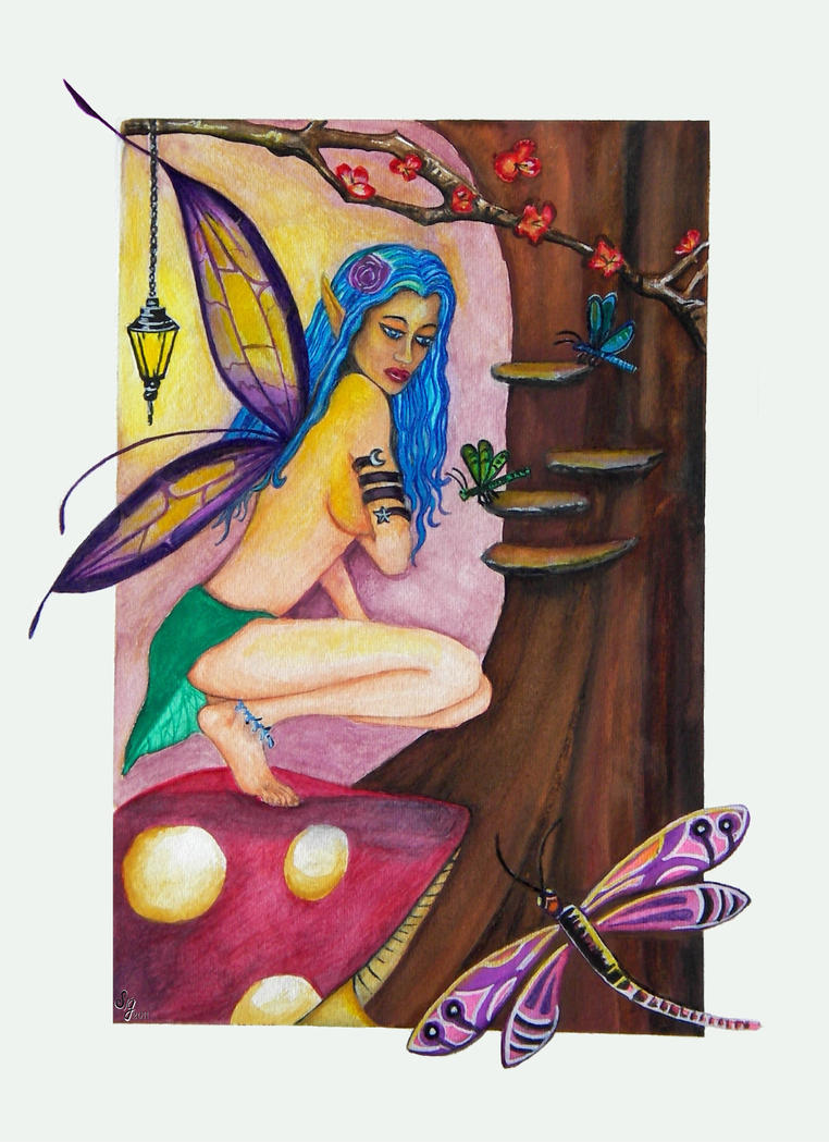 Fairy queen of the Dragonflies by EverIris