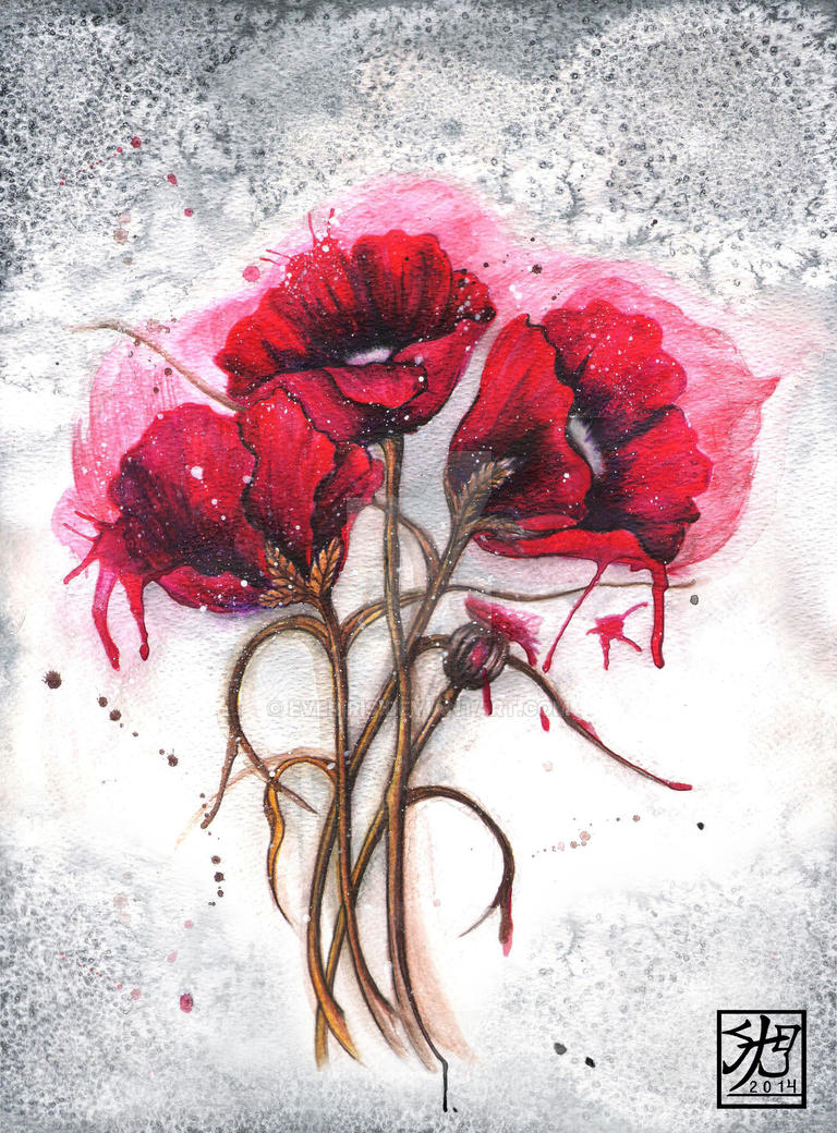 Lisa's Red Poppies by EverIris