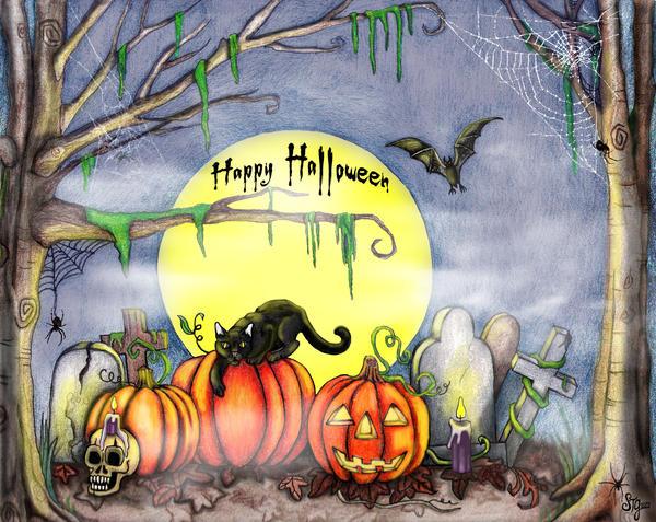 The Halloween Scene by EverIris