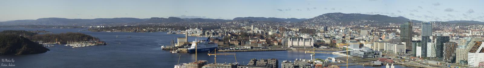 Oslo Panorama by BlackDiamondOne