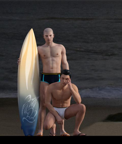 Surf beach by john240685