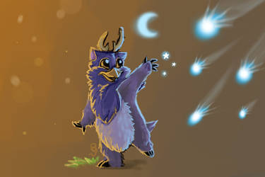 Baby Moonkin's First Starfall by SavvyBanani