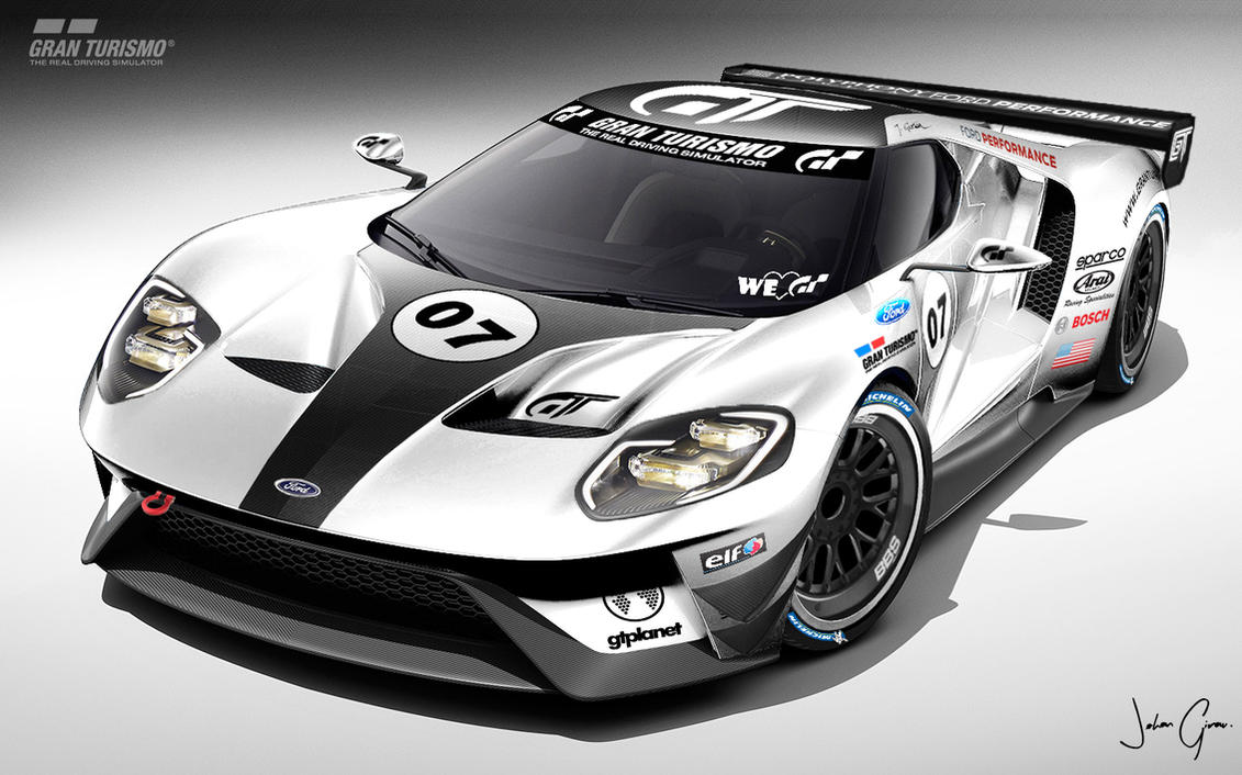 Ford Gt Lm Race Car Spec Iii Pic  By Girabyte Jc Lover
