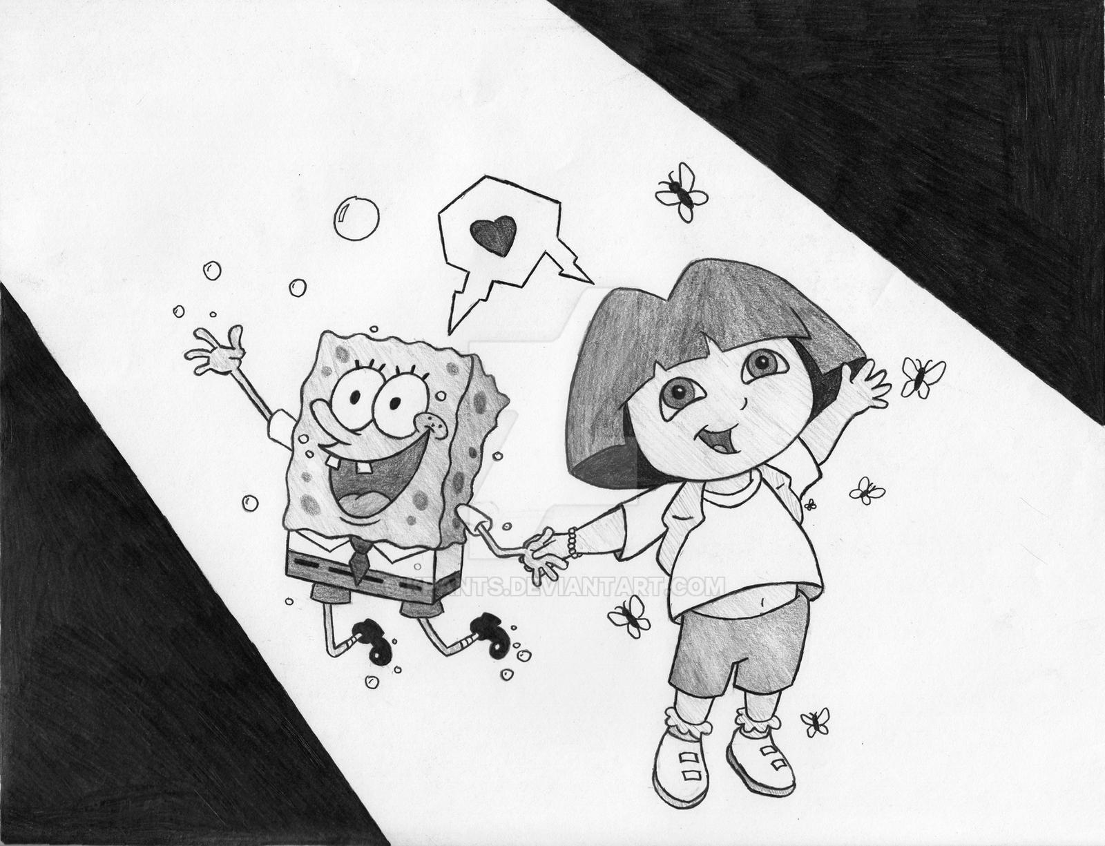 Spongebob Squarepants And Dora The Explorer By KPants On