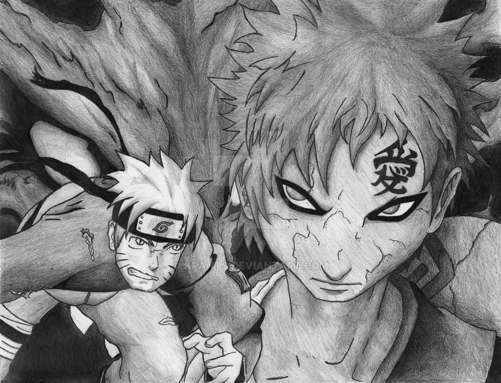 Naruto Vs. Gaara by KPants on DeviantArt Anime Fight Scene Background