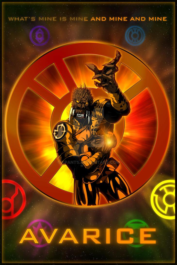 The Lantern Corps - Orange Lantern by KPants