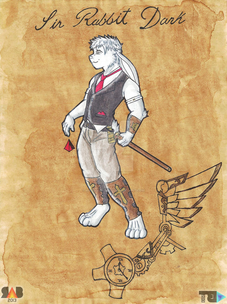 Sir Rabbit Dark (Steampunk Style) by Ray-Akim-Blau