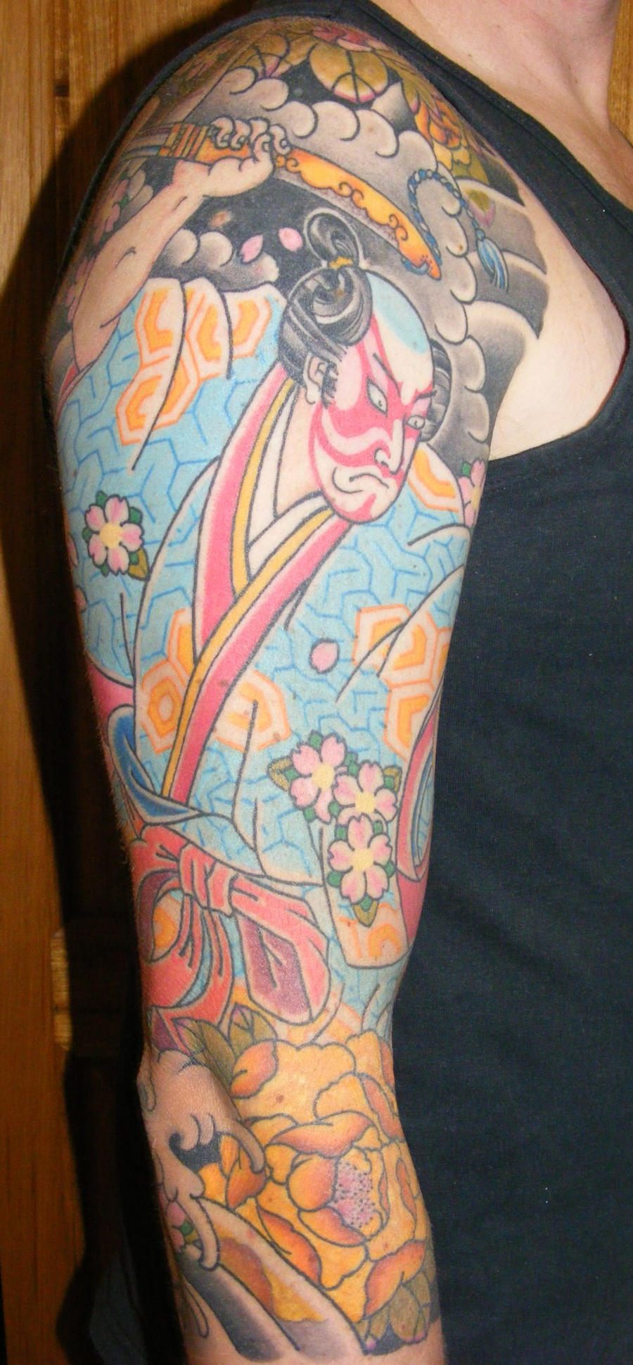 Japanese Samurai Tattoo Sleeve Picture 2