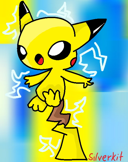 thundershock pikachu by NorthwindSilverkit on DeviantArt