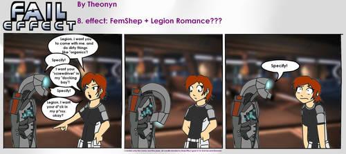Fail Effect 8 - FemShep + Legion Romance??? by Theonyn