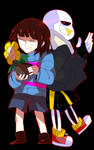 [Collab]-Underfell -Sans and frisk