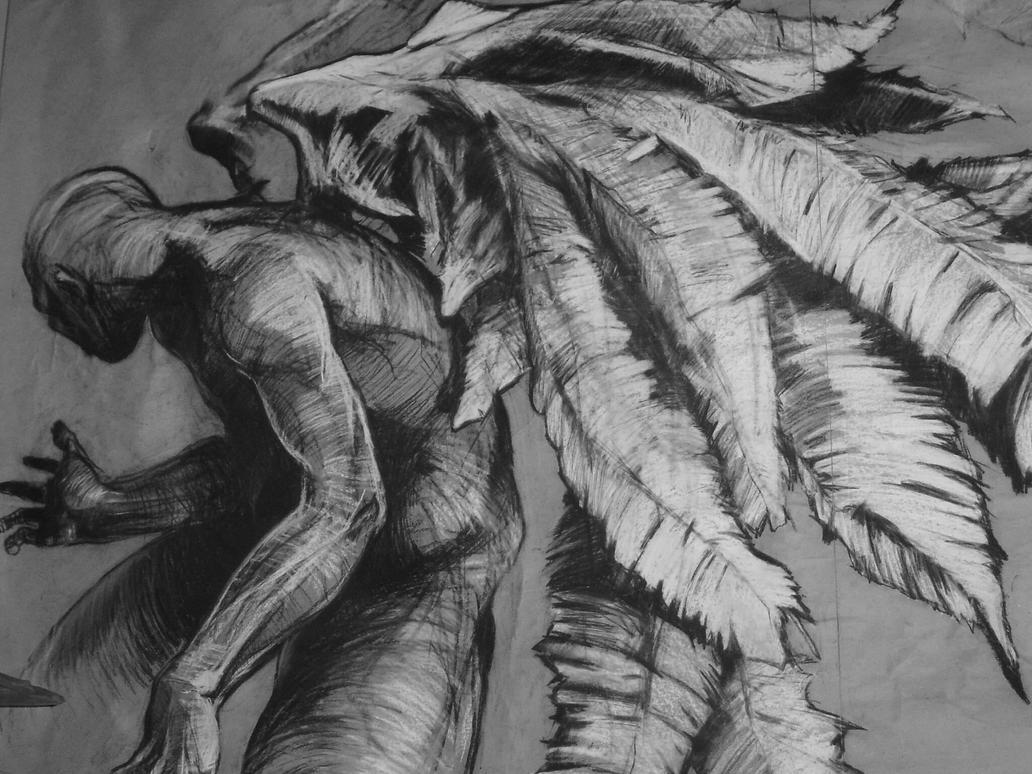 Gray Angel By Lelusz
