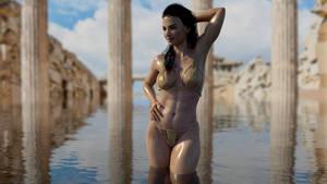 ATHENA NIKOS G3F - bathing at the ruins -