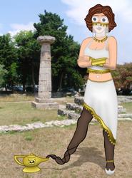 Athena Genie By Hippo2 by White0wlsuperheroine