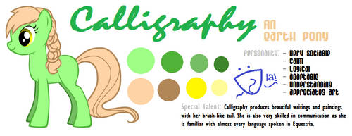 Calligraphy Reference Sheet