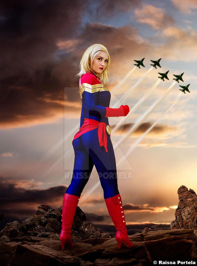 Captain Marvel by RaissaPortela