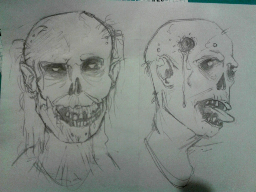 Zombie Sketches by toblerone27