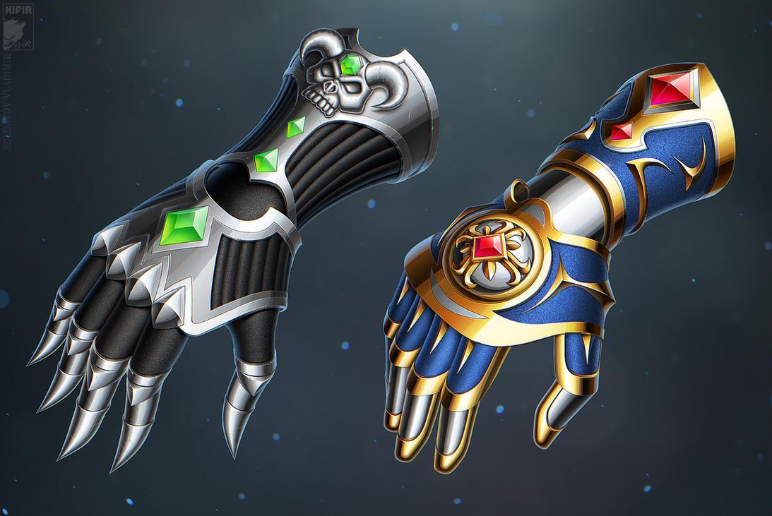 Orochi Risu | Lamya Locker update [wip] Fantasy_gloves_by_kifir-d8yugim