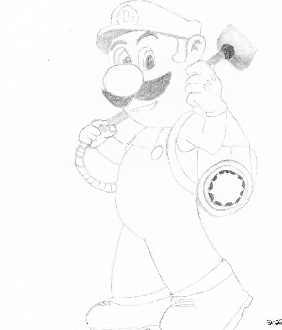 Luigi 39 s mansion 3 1 by teestall on deviantart for Luigi s mansion coloring pages