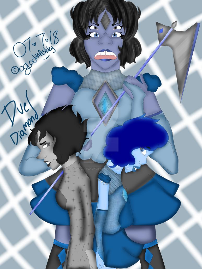 Duel Diamond  by Ogoditsashley