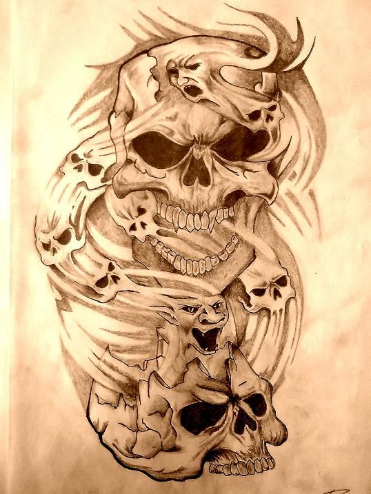 My Skull Tattoo Art by pinch1987 on DeviantArt