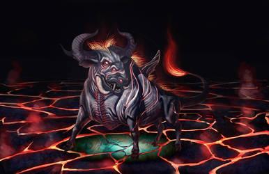 bull creature by E-Nojosa