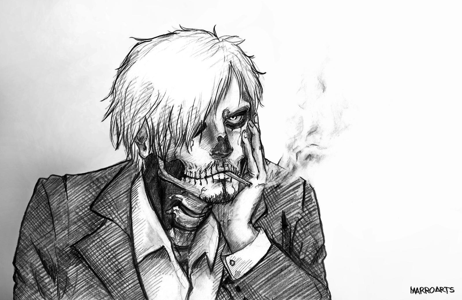 Sanji zombie boy by artJou on DeviantArt