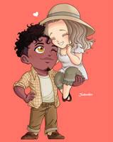 Chibi Couple Commission by artJou