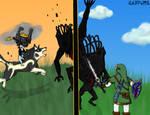 Shadow Beast Fight by Minthia