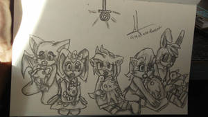 Amy, Sally, Cream, Rouge and Bunny by Lacie-BunCat