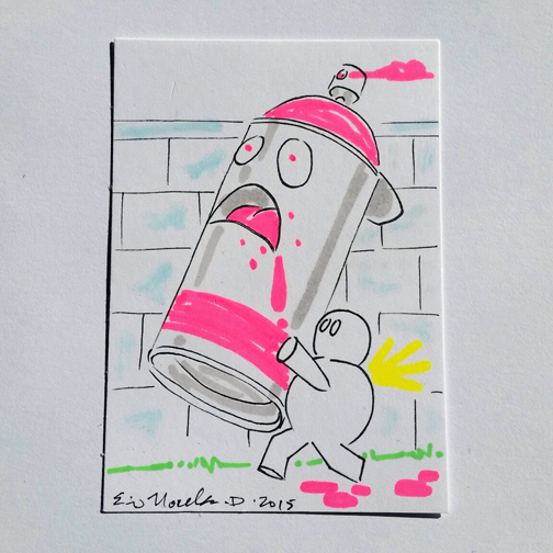 GhostBug with empty Spraycan sketchcard by Arthammer