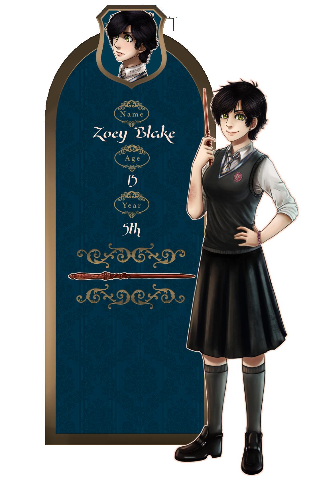 {Illegibilus} Zoey Blake 5th year app by Nikae