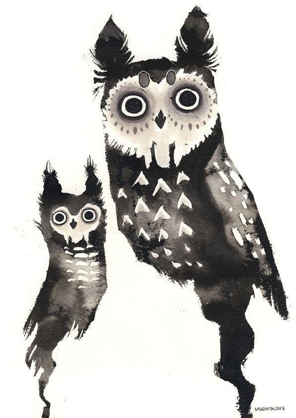Ink owls
