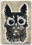 ACEO Ink Owl 01
