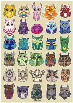 Flock of Owls III
