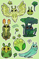 Owl Stickers by Myrntai