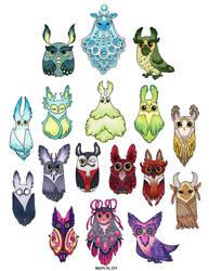 Owls 2017 part 2 by Myrntai