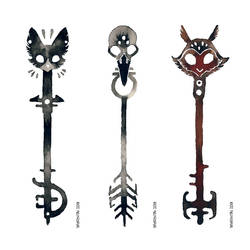 3 Ink Keys by Myrntai