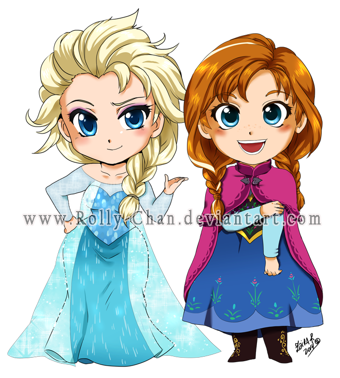 Frozen: Elsa and Anna by Rolly-Chan