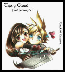 Tifa y Cloud SD by Rolly-Chan