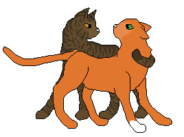 Brambleclaw and Squirrelflight by Kittynator