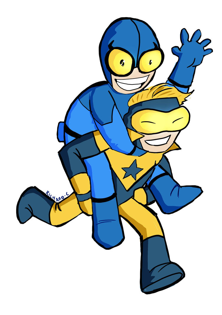 Boostergold And Blue Beetle by richard-chin