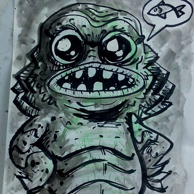 day 19 creature from the black lagoon B by richard-chin