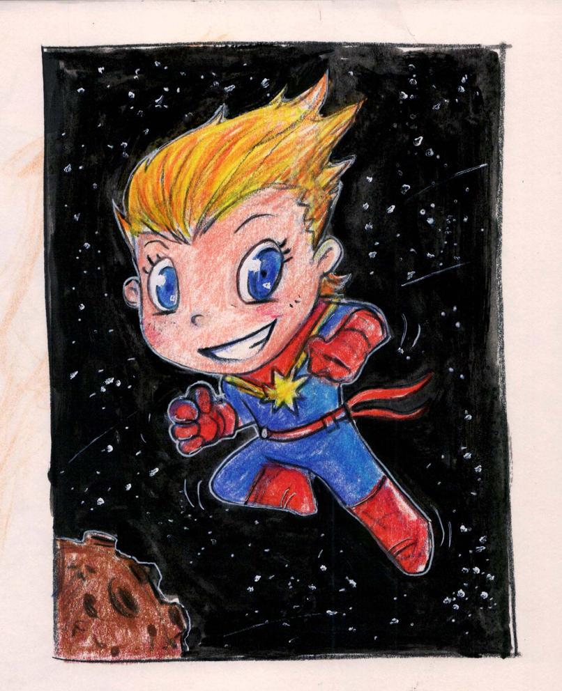 Captain Marvel by richard-chin