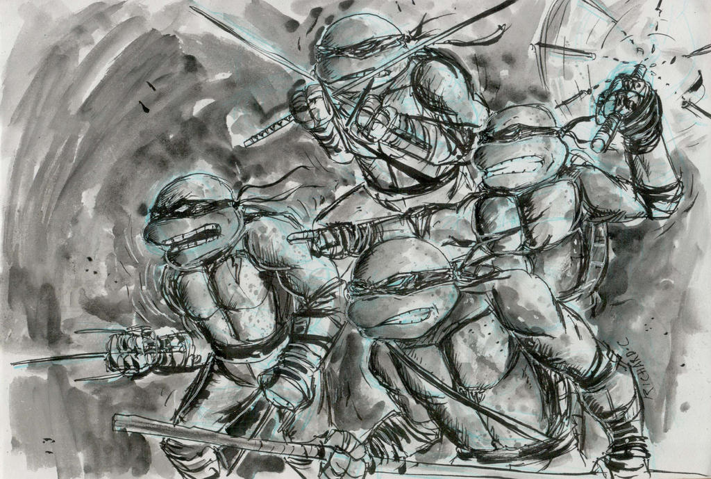 Turtles Ink by richard-chin