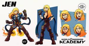 JEN character sheet commission.