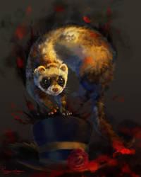 Ferret by Pihguinolog