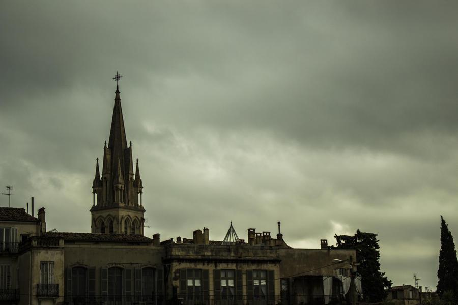 Montpellier - Eglise Sainte Anne by Little-Vampire
