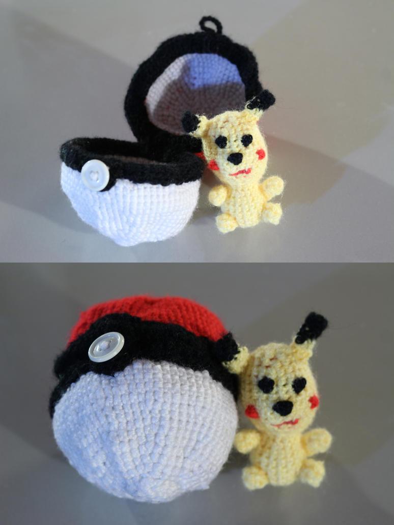 Pikachu amigurumi by Little-Vampire